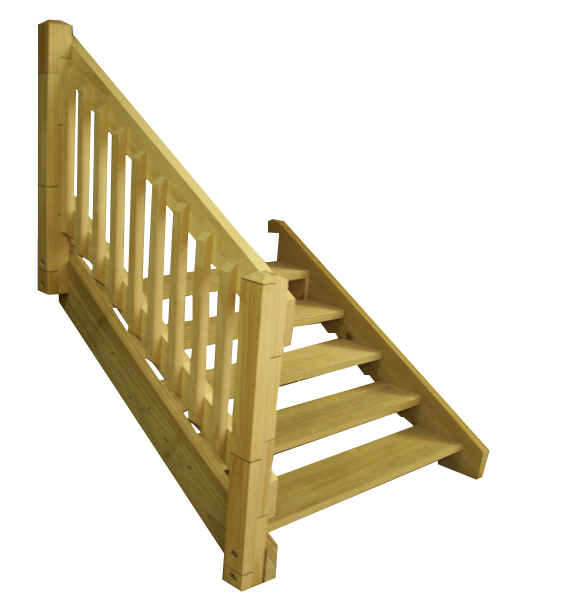 Diy timber stairs handrail flight kits solutioingenieria Image collections