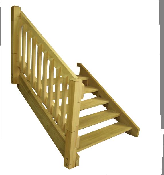 DIY Timber Stairs - Handrail Flight Kits
